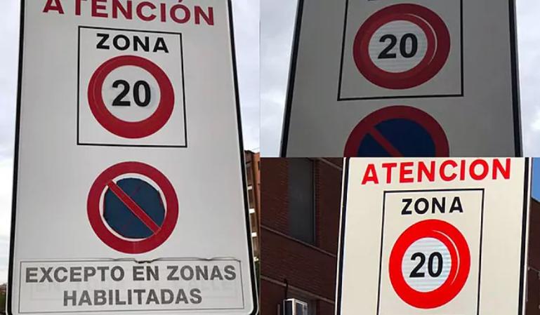 Vuelven las chapuzas de las señales de velocidad en las ciudades